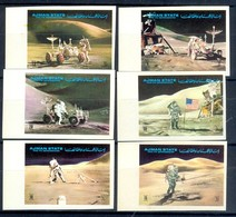 F25-  United Arab Emirates. Ajman. Space. Imperf Set. - Space
