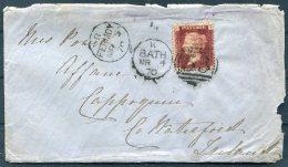 1870 GB Bath Duplex Cover - Cappoquin, Co Waterford, Ireland Via Fermoy - 1840-1901 (Regina Victoria)