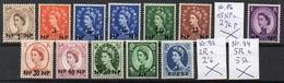 Oman  1960, 1961  MiNr. 80 -  85 , 87 - 92   **/ Mnh : Freimarken Von Großbritannien Mit Neuem Wertaufdruck - Oman