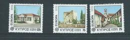Cyprus 1978 Europa Architecture Set 3 MNH - Cyprus (Republic)
