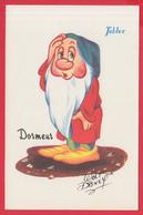 "CPSM- WALT DISNEY - "" DORMEUR "" - Chocolat TOBLER **SUP** - 2 SCANS - Disneyworld"
