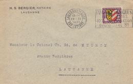 Enveloppe   SUISSE     PRO  JUVENTUTE    LAUSANNE   1931 - Lettres & Documents