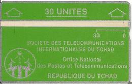 CARTE MAGNETIQUE-TCHAD-30U-VERT-V° N° En Bas A Droite Inversé 244 A07936-TBE - Tchad