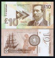Scotland, 10 Pounds Sir Arthur Conan Doyle 2017, Private Issue, Sherlock Holmes - Billets