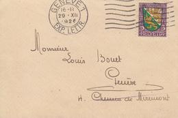 Enveloppe   SUISSE     PRO  JUVENTUTE    GENEVE   1926 - Lettres & Documents