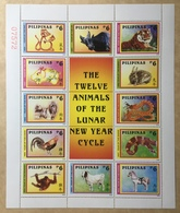 MNH Philippines 2004 - Chinese Zodiacs, Full Sheet - Chinese New Year