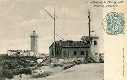 Le Grau Du Roi Pointe De L'espiguette Phare Et Semaphore Circulee En 1905 - Le Grau-du-Roi