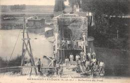 CPA 77 - GERMIGNY-L'EVEQUE, Refection Du Pont - Francia