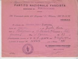 Venezia Comando 49° Legione S. Marco Milizia Volontaria 1935  G/t - Historical Documents