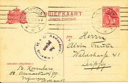 Netherlands Postal Stationery Postcard Sent To Germany Nijmegen 24-6-1918 - Postal Stationery