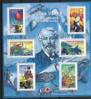 France 2005 Bloc Feuillet N° 85 Neuf Jules Verne La Croix Rouge Au Prix De La Poste - Neufs