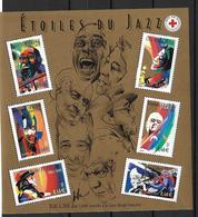 France 2002 Bloc Feuillet N° 50 Neuf Jazz La Croix Rouge Au Prix De La Poste - Blocs & Feuillets