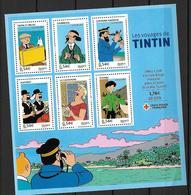 France 2007 Bloc Feuillet N° 109 Neuf Tintin La Croix Rouge Au Prix De La Poste - Blocs & Feuillets