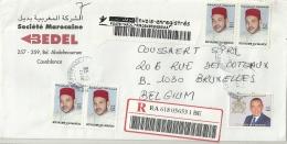 Maroc 2008 Casablanca >> Bruxelles B / Registered Récommandé - Maroc (1956-...)