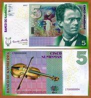 Kamberra, Kingdom, 5 Numismas, 2017, UNC Gustav Mahler Upgraded - Billets
