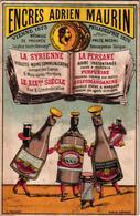 1 Chromo Card Encre Inkt  Pub.Encres Adrien Maurin Anno 1876 La Syrienne Anthropomophic Dressed Bottles VG C1880 - Other