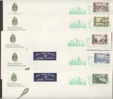 1967 Centennial Definitives - Set Of 12 House Of Commons FDCs Sc 454-8, 461-465B  RARE!! - 1961-1970