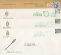 1969-73  Centennial Definitives - Set Of 4 House Of Commons FDCs Sc468A-B, 549-550 RARE!! - 1961-1970