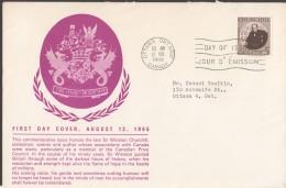 1965  Churchill Sc 440 On English Schering FDC - 1961-1970
