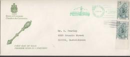 1966  De La Salle, Explorer Sc 446 Pair   House Of Commons FDC - 1961-1970