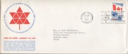 1967  Centennial Of Confederation Sc 453 Schering English FDC - Primi Giorni (FDC)