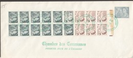 1971 Centennial Definitive 1 Cent And 8 Cent Booklet Sc 544b  House Of Commons FDC - First Day Covers