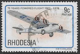 Rhodesia SG573 1978 75th Anniversary Of Powered Flight 9c Good/fine Used [37/30742/2D] - Rhodesia (1964-1980)