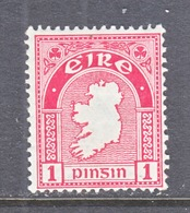 IRELAND  65   *    Wmk.  44   MAP - 1922-37 Irish Free State
