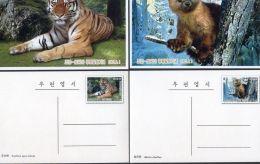 PS589 North Korea 2005 Amur Tiger, Black Cock (North Korea Joint Issuing) Postage 2 Full - Korea, North