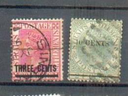 A 138  - MALACCA - YT 58 - 62 Obli - Straits Settlements