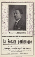 Cpa,HENRY LAURESNE,romancier,la Sonate Pathétique,édition Le Rouge Et Le Noir,henri De Régnier - Philosophie & Pensées