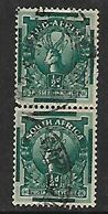 S.Africa 1943, Coil Stamps, 1/2d Pair Used - Used Stamps
