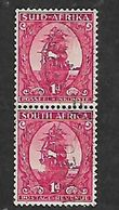 S.Africa 1943, Coil Stamps, 1d Pair Used - Zuid-Afrika (...-1961)
