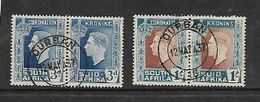 S.Africa 1937 GVIR Coronation 3d, 1/= Pairs Used DURBAN 12 MAY 37 C.d.s. (first Day) - Zuid-Afrika (...-1961)
