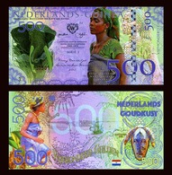 Netherlands Guinea (Ghana) 500 Gulden, 2016 Private Issue POLYMER, UNC >Elephant - Billets