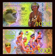 Netherlands Guinea (Ghana) 1000 Gulden, 2016 Private Issue POLYMER, UNC > Monkey - Billets