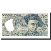 France, 50 Francs, 50 F 1976-1992 ''Quentin De La Tour'', 1987, NEUF - 50 F 1976-1992 ''Quentin De La Tour''