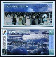 Antarctica, $2, 3-1-1996 (2009), UNC, Penguins - Billets