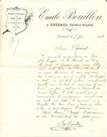 77 GUERARD - Entreprise De Maçonnerie Emile BOUILLON - Lettre Illustrée De 1904 - France
