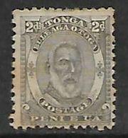 Tonga 1892, 2d MH*, Toned - Tonga (...-1970)