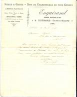 77 GUÉRARD - Sciage & Grume, Bois De Charronnage, Limons & Plateaux ENGUÉRAND - Lettre De 1907 - France