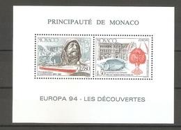 1994 Monaco. Europa CEPT.  .  Luxe Block ** - Europa-CEPT