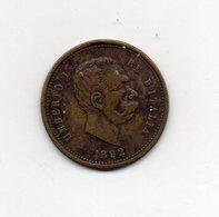Italia - 1892 - Medaglia Di Umberto I° - Vedi Foto - (FDC9669) - Other