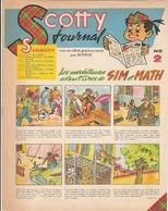 SCOTTY JOURNAL 8 PAGES AVENTURES DE SIM ET MATH PUBLICITE SOTCH ANNEES 50-60 - Otros