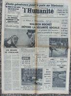 L'Humanité - 20 Mai 1967 - Pour Paix Vietnam - Marée Noire Audierne - Coupe De France De Foot - 1950 à Nos Jours
