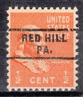 USA Precancel Vorausentwertung Preo, Locals Pennsylvania, Red Hill 743 - Vereinigte Staaten