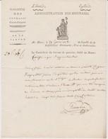 Certificat Du Contrôleur Du Bureau De Garantie Du Mans, 29 Germinal An 12, Avec Vignette - Historical Documents