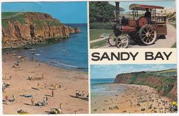 Sandy Bay: STEAM-TRACTOR ENGINE TRAIN - Exmouth, Devon  - (1973) - Voitures De Tourisme
