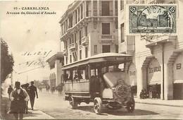- Pays Div -ref L838- Maroc - Casablanca -avenue Du General D Amade -beau Plan Bus Autobus  - - Casablanca