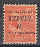 USA Precancel Vorausentwertung Preo, Locals Pennsylvania, Robesonia 724 - Vereinigte Staaten